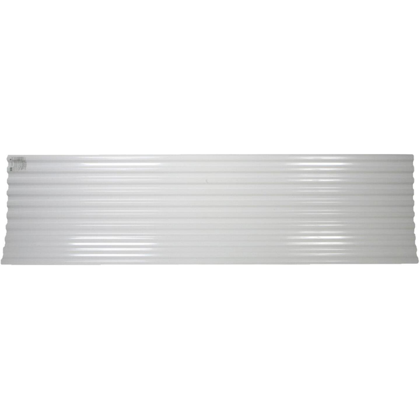 Tuftex UltraVinyl 26 In. x 10 Ft. Opaque White Square Wave Polycarb & Vinyl Corrugated Panels Image 4